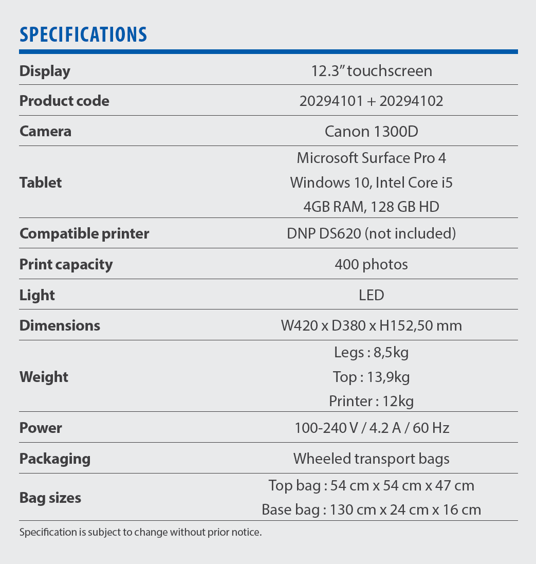 yodabooth specifications