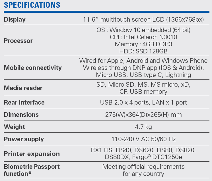 DT T6mini Specifications
