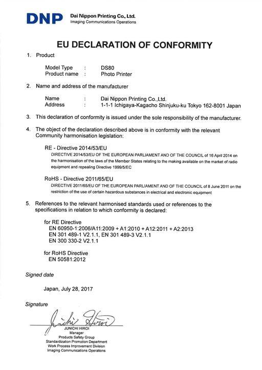 DS80 EU DECLARATION OF CONFORMITY EN